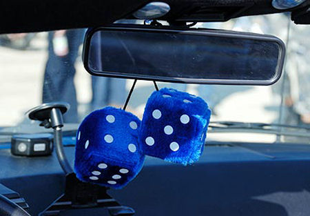 Furry dice maybe - but don't gamble on safety!